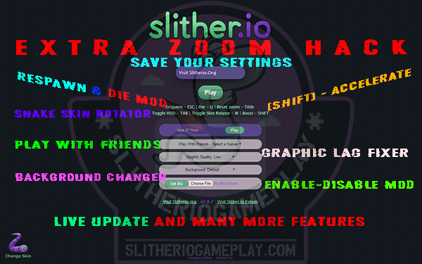 Slither.io Mod - Slitherio New Mod