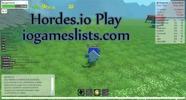 Hordes.io play is one of the best 3D games where you would feel that you are actually inside the screen playing the game.