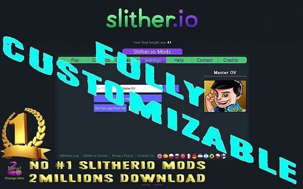 slither.io mod sgp v12 fully customizable