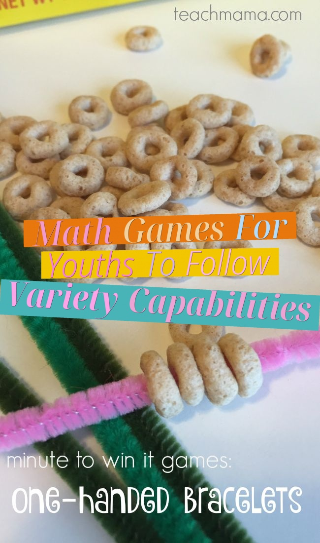 Math Games For Youths To Follow Variety Capabilities