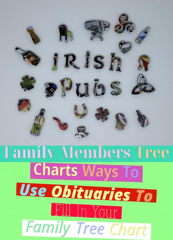 Family Members Tree Charts - Ways To Use Obituaries To Fill In Your Family Tree Chart