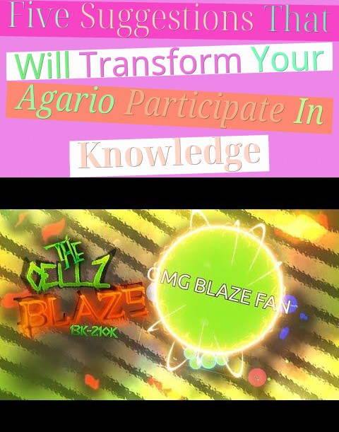 Five Suggestions That Will Transform Your Agario Participate In Knowledge