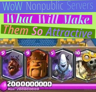 WoW Non-public Servers - What Will Make Them So Attractive?