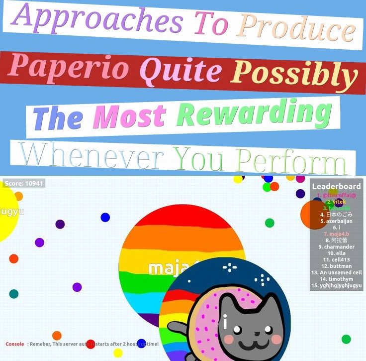 Approaches To Produce Paperio Quite Possibly The Most Rewarding Whenever You Perform