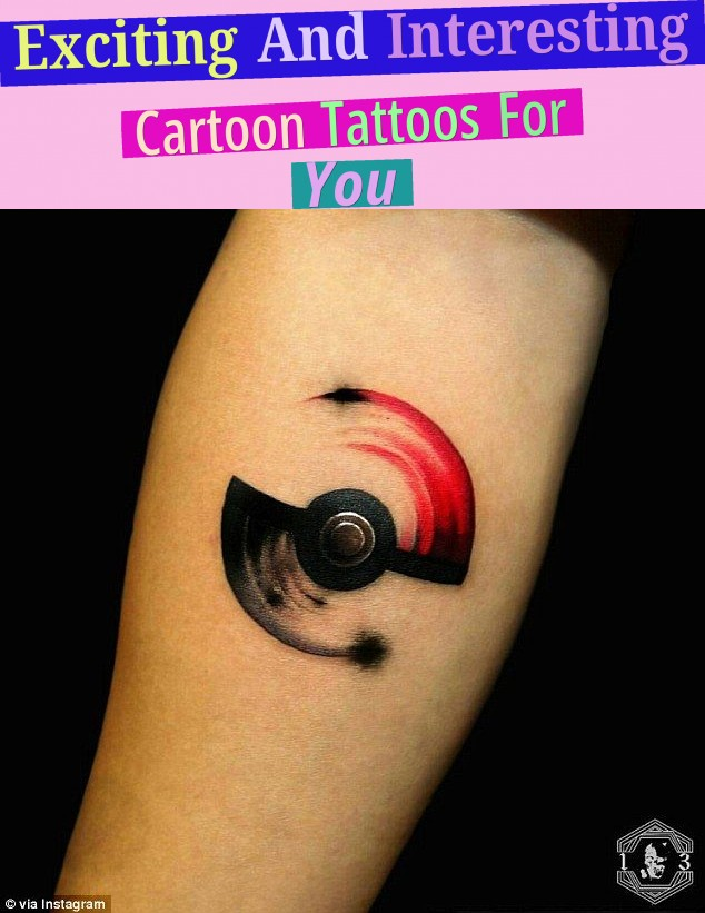 Exciting And Interesting Cartoon Tattoos For You!
