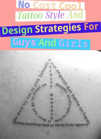 No Cost Cool Tattoo Style And Design Strategies For Guys And Girls