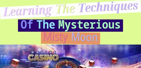Learning The Techniques Of The Mysterious Misty Moon