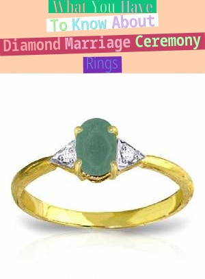 What You Have To Know About Diamond Marriage Ceremony Rings