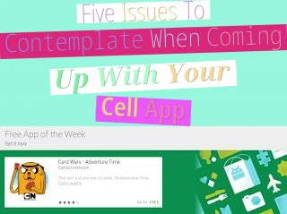 Five Issues To Contemplate When Coming Up With Your Cell App